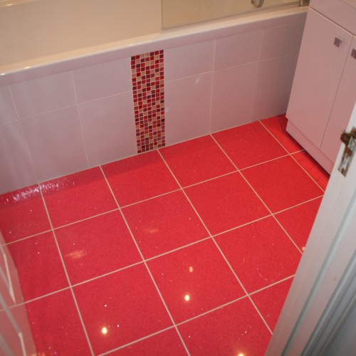 Pink Tiles With A Sparkling Finish